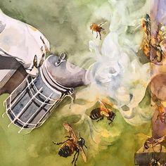 2015 Nancy Murphree Davis nmdART.com Watercolor, Studio, Artwork, Painting, Fictional Characters, Instagram, Pen And Wash, Watercolour, Work Of Art
