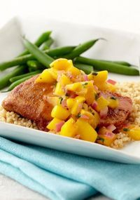 Mango-Orange Chicken — Chicken gets a spicy island flavor, a lively fruit topping and attitude. Add couscous for a memorable dish.