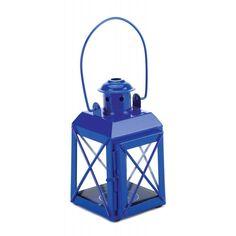 Mini Crisscross Candle Lamp Blue