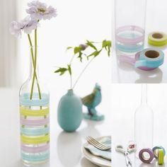 Tape Vases #diy #vase #tape