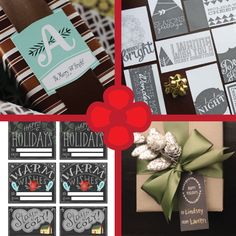 So many cute gift tags on DesignCrush I can't handle it. #graphicdesign