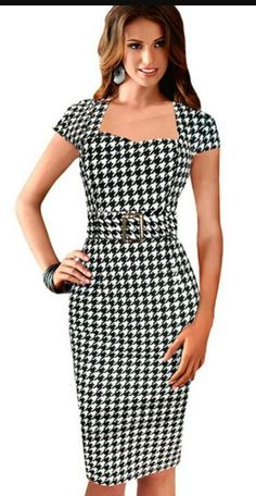 24 times black and white is cool Cute Dresses, Dresses For Work, Dress Outfits, Fashion Dresses, Vintage Dresses Online, Professional Outfits, Work Attire, Mode Style, Classy Outfits