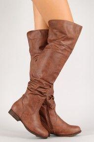 Step-10 Leatherette Slouchy Thigh High Riding Boot #urbanog