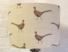 Pheasant Drum Lampshade by TheLitttleBrickHouse on Etsy
