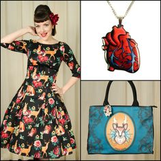 Cute and Creepy style with Jubly-Umph #retrowithanedge #hellbunny #halloween #woodland #animals http://catslikeus.com/blog/articles/style-inspiration-cute-and-creepy-with-jubly-umph