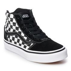 296624d85918cb Vans Ward Hi Checkered Boys  Skate Shoes
