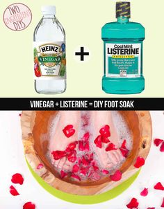 Make a soothing foot soak with just two ingredients | 27 Insanely Easy Two-Ingredient DIY Hacks