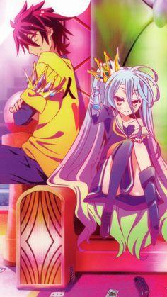 Sora and shiro, ngnl, kuuhaku, blank Loli Kawaii, Kawaii Anime, Otaku Anime, Manga Anime, Manga Girl, Chibi, Game No Life, Anime Shows, Animes Wallpapers