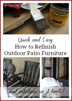 Curb Alert! : Outdoor Wood Patio Chairs {Refinishing Project}