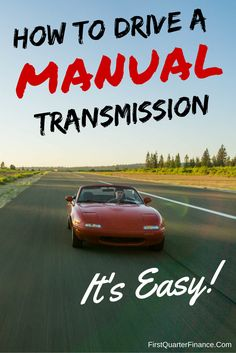 Learn to drive a standard transmission car