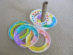 Ring Toss - Fun craft to make with kids and then play afterwards