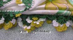 Sarı Çiçek Bahçesi Dolgulu Tığ Oyası : Crafts Crochet Lace