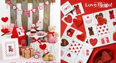 """What says """"hug me"""" more than a teddy bear? This adorable Valentine's Day printable collection by Bird's Party is so sweet, and the love bingo game is FREE! Go download it now!"""
