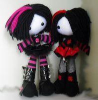 Neko and Yuri by Kawaii Doll, Kawaii Plush, Cute Plush, Creepy Stuffed Animals, Creepy Cute Fashion, Chica Punk, Kids Toys For Boys, Kawaii Crochet, Gothic Dolls