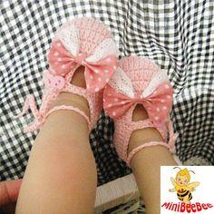 Handmade Crochet Baby Shoes Crocheting Baby Sandals by MiniBeeBee, $9.99