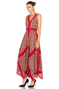 Image 2 of Altuzarra Clemmie Dress in Red Paisley