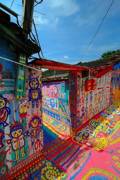 Rainbow Village | STREET ART | Taichung City, Taiwan |Unknown Artist