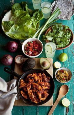 lettuce tacos with chipotle chicken