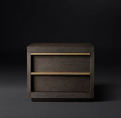 "Bezier 26"" Closed Nightstand"