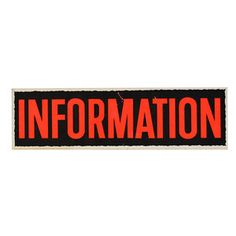 Information Sign, $18, now featured on Fab.