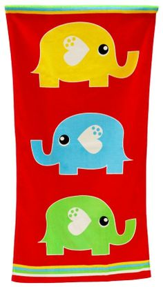 WILLIAM A. MCNEIL & CO - Elephant Kids Beach Towel. #christmascountdown