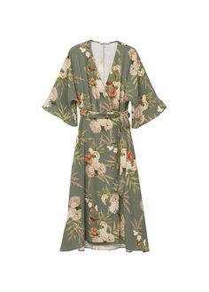 Mango - Çiçekli anvelop elbise