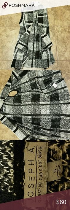 NWOT Joseph Allen Sweater Cardigan Wrap Such a beautiful sleeveless Cardigan. Pretty long  Size small but really any size works with this beauty  Never been worn only tried on and tags have fallen off Bought 4 months ago Joseph Allen Sweaters Shrugs & Ponchos