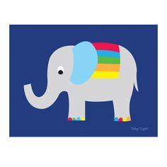 Elephant print Print