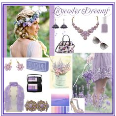 Lavender Dreams by kate-ensign on Polyvore featuring Kate Spade, Lancôme, Essie and Casadeco