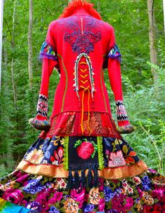 Gypsy style patchwork sweater COAT/DRESS.  Size door amberstudios, $480.00