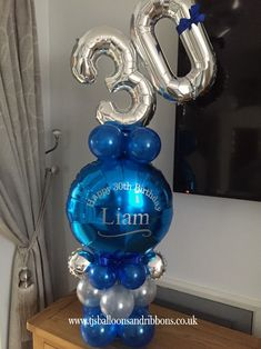Birthday personalised balloon - seyma can Balloon Stands, Balloon Display, Balloon Gift, Balloon Arrangements, Balloon Centerpieces, Bubble Balloons, Baby Shower Balloons, Balloon Flowers, Balloon Bouquet
