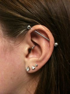 Once my other ones heal, I really want to get my daith or industrial done. Or both. Who knows?