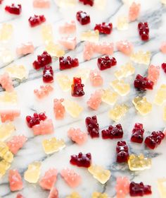 These homemade gummy bears or fruit snacks are easy to make and healthier than store bought. The gummies are made with real fruit and contain no artificial flavors or colors.