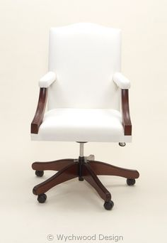 Upholstered Swivel Chair from Wychwood Design. Contract Furniture, Office Furniture, Duck Egg Blue Interiors, Traditional Office Chairs, Reception Furniture, Upholstered Swivel Chairs, Bespoke Furniture, Desk Chair, Interior Design