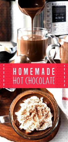 Homemade hot chocolate is a perfect holiday drink! Make crock pot hot chocolate, instant pot hot chocolate or keto hot chocolate with this recipe. Crock Pot Hot Chocolate Recipe, Best Hot Chocolate Recipes, Hot Cocoa Recipe, Cocoa Recipes, Homemade Hot Chocolate, Hot Chocolate Bars, Chocolate Pots, Hot Fudge, Knives