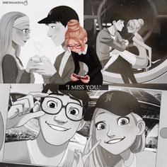 I miss you. Tadashi and honey lemon