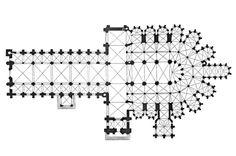 Gótico clásico. Planta de la catedral de Le Mans. Fue levantada en el siglo XI, en estilo románico. Pero fue reformada hacia el 1220 en el gótico. Gothic Architecture, Architecture Details, Le Mans, How To Plan, Architectural Drawings, Ancient Architecture, Gothic Art, Medieval Art, 11th Century