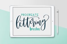 Pack of 8 Procreate Brushes By Sarah L McFarland -partner link