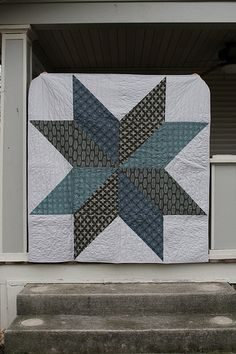 Manly star quilt. Tutorial from In Color Order.