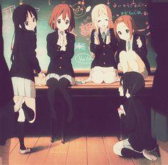 K-ON!  Mio, Yui, Tsumugi, Rutsu and Azusa