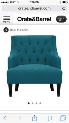 Chloe Chair In Diaable Raspberry 999 At Crate And Barrel Another Side That Would Make A Corner Cozy Or Add Seating To Small Living Roo