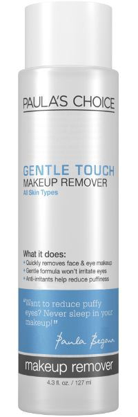 Paula's Choice Gentle Touch Makeup Remover Review. This is the most gentle makeup remover on your eyes! #crueltyfree #makeupremover #beauty