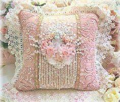 10 Wonderful Useful Ideas: Shabby Chic Pillows Texture shabby chic diy baby.How To Make Shabby Chic Pillows. Shabby Chic Pillows, Shabby Chic Living Room, Shabby Chic Crafts, Pink Pillows, Shabby Chic Cottage, Shabby Chic Homes, Lace Pillows, Chic Bedding, Vintage Pillows