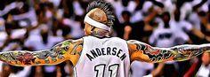 A painting poster with Chris Andersen, The Birdman from Miami Heat #nba #basketball #miamiheat #birdman #chrisandersen