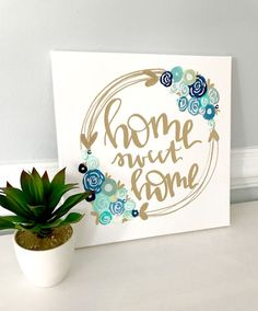 New canvas art painting quotes signs ideas Canvas Letters, Diy Letters, Canvas Signs, Cute Canvas, Diy Canvas, Wall Canvas, Hand Painted Canvas, Canvas Crafts, Wall Art