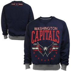 Washington Capitals Big Time Pullover Sweatshirt - Navy Blue 86eadf76049bc