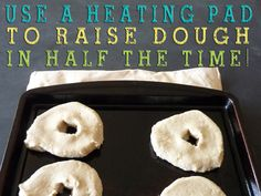 Use a Heating Pad to Raise Dough in Half The Time! BRILLIANT idea! #Heating Pad #Homemade Bread #Homemade Rolls