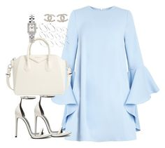 A fashion look from June 2016 featuring light blue dress, Yves Saint Laurent and handbag satchel. Browse and shop related looks. Girly Outfits, Cute Casual Outfits, Stylish Outfits, Casual Clothes, Work Outfits, Mode Ootd, Look Fashion, Womens Fashion, Elegantes Outfit