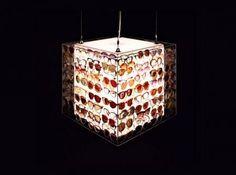 lampadari riciclati : lampadari riciclati-riuso e riciclo-materiali di scarto