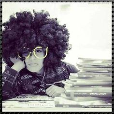 Natural hair...lol how i be feeling at work sometime..love the glasses